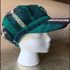 Tweed Plaid Paperboy Hat